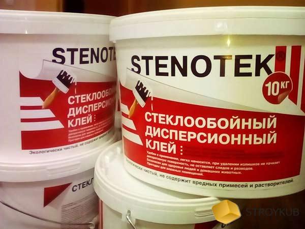 Фото - Клей для обоев Стеклообойный (Стенотек), ведро 3,5кг